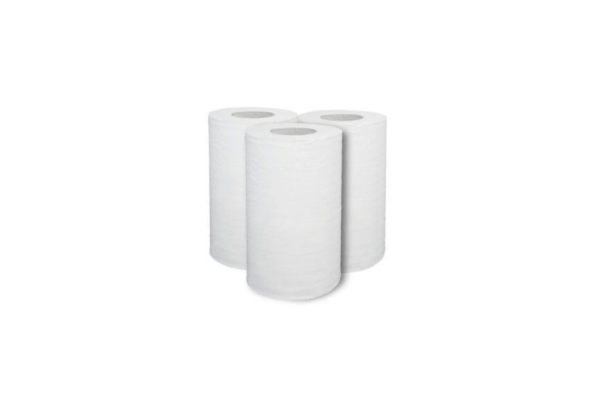Papierové utierky, 1 vrstvové, kotúč 120m/21cm, bal. 12 ks