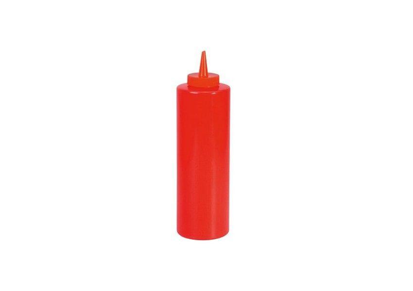 Plastová fľaša na kečup, červená, 700 ml